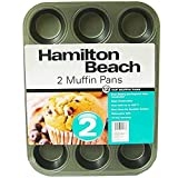 Hamilton Beach Set of 2 Nonstick 12-Cup Muffin Pans