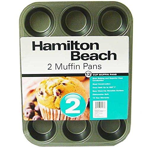 Hamilton Beach Set of 2 Nonstick 12-Cup Muffin Pans by Hamilton Beach