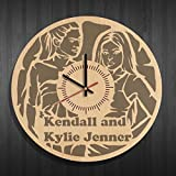 kendall jenner room Wooden wall clock with original design kendall and kylie jenner, kendall and kylie jenner decal, best gift for kendall and kylie jenner fans