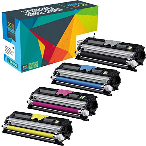 Do it Wiser Compatible Extra High Yield Toner Cartridges for Konica Minolta Magicolor 1600w 1650en 1680mf 1690mf 4-Pack