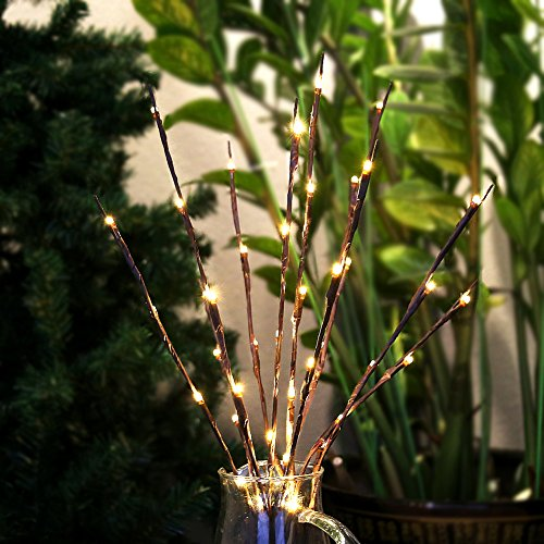 Lighted Outdoor Christmas Stick Trees