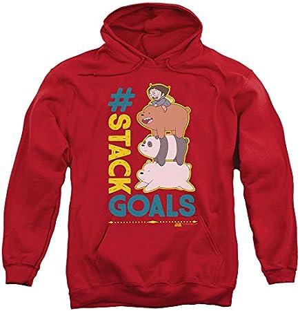 We Bare Bears Stack Goals - Sudadera con capucha para hombre