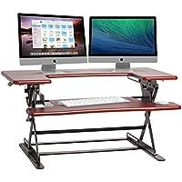 Halter ED-600 Preassembled Height Desk Sit Stand Elevating Desktop (Cherry)
