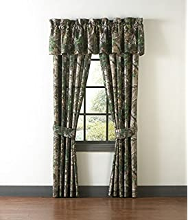 drapes with valance. Realtree Xtra Green Camo Camouflage Drapes / Curtains (Valance Sold Separately) By Birchwood With Valance
