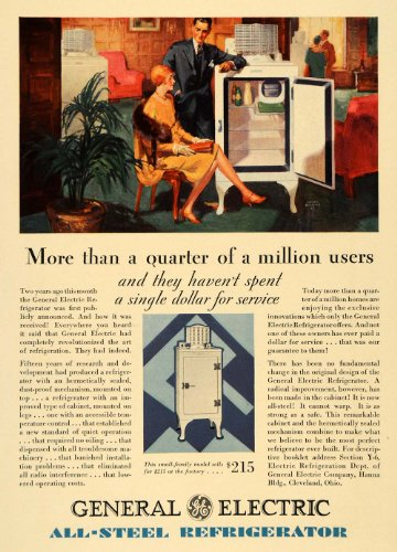 1929-ad-general-electric-all-steel-refrigerator-office-original-print-ad