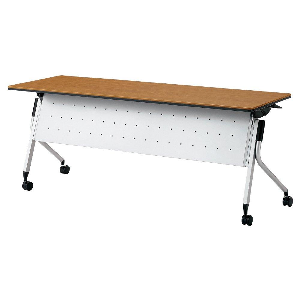 プラス Linello 2 フォールディングテーブル 高さ72cmタイプ 幕板付 LD-515M ミディアムウッド 610370 B013JP3HLQ ミディアムウッド|LD-515M610370 ミディアムウッド