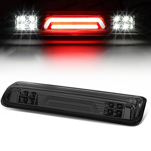 (For Ford Explorer Sport Trac/F-150 3D LED Light Bar Third Tail Brake Lamps (Chrome Housing/Smoked Lens) 4th)