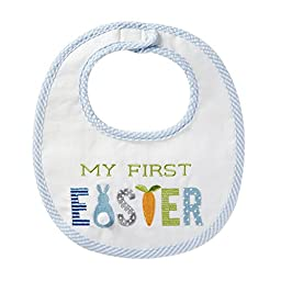 Mud Pie Baby Applique Bib, First Easter, One Size