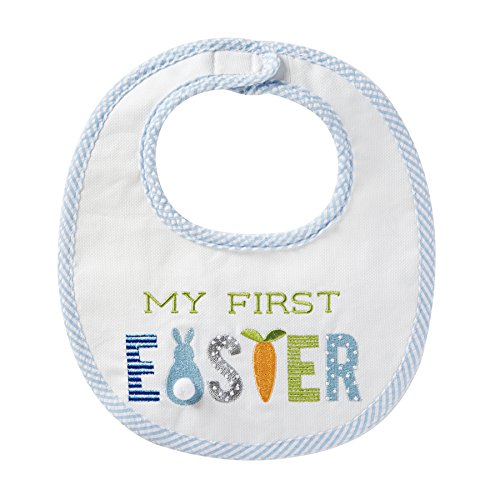 Easter Bib (Mud Pie Baby Applique Bib, First Easter, One Size)