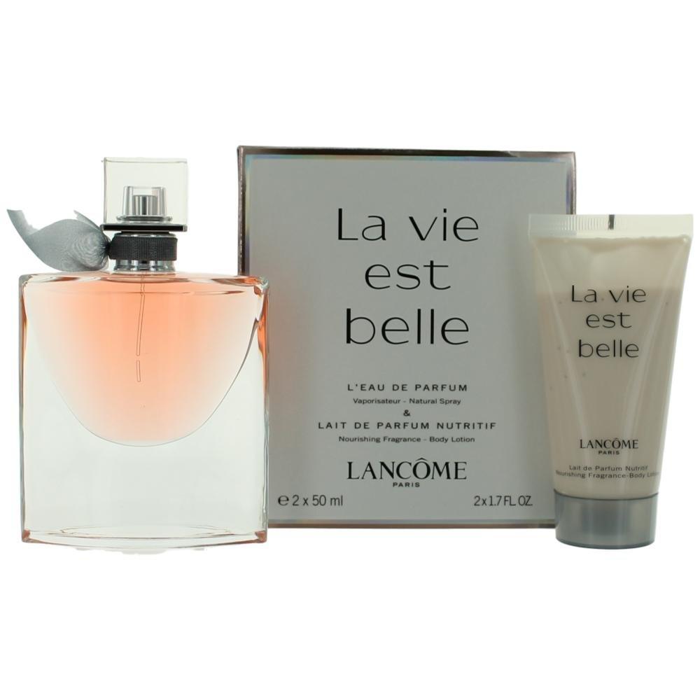 Lancome La Vie Est Belle Fragrance Set, 50ml Eau de Parfum Spray + 50ml Perfumed Body Lotion