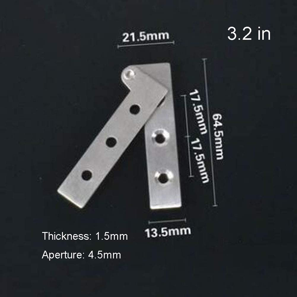 NQFL Door Hinge Stainless Buffer Automatic Closing Door Closer Damping Hinge Rust Silver(3 Pairs)-A(10016MM)
