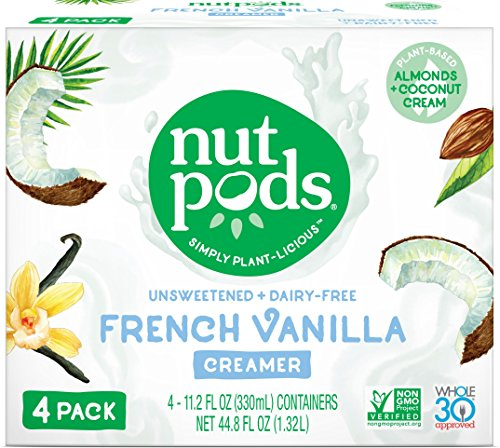 (nutpods French Vanilla Dairy-Free Creamer (4-pack) Unsweetened Whole30/Paleo/Keto/Vegan/Sugar Free)