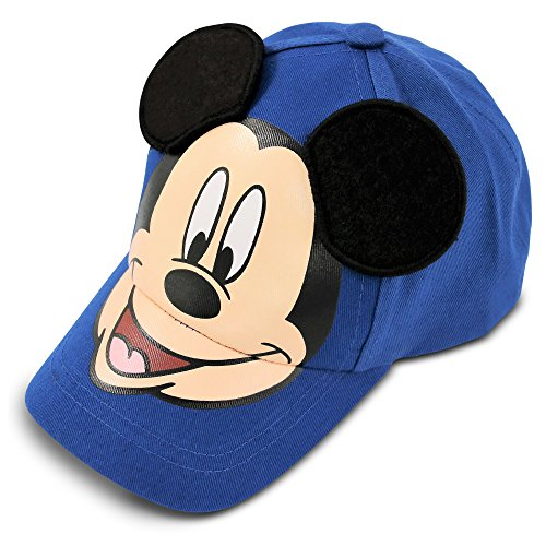 Disney Little Boys Mickey Mouse Cotton Baseball Cap, Blue, Age 4-7 -
