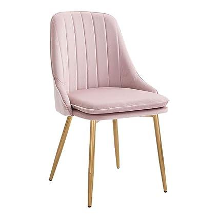 Amazon.com: Silla de hierro forjado/silla simple, cojín de ...