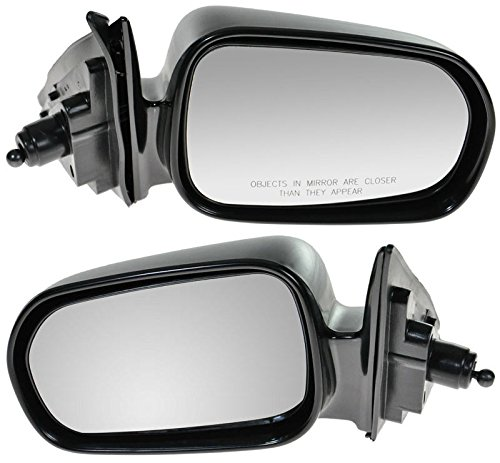 Manual Remote Side Mirrors Pair Set Left LH & Right RH for 98-02 Accord 4 Door