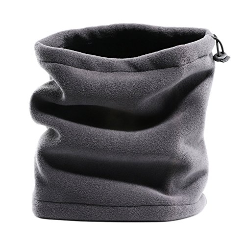 Fleece Neck Warmer Windproof Reversible Neck Gaiter Tube/Ear Warmer/Face Mask/Headband/Snood Beanie Scarf for Indoor and Outdoors, Versatility & ()