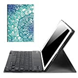 Fintie iPad 9.7 2018 / 2017 / iPad Air 2 / iPad Air Keyboard Case - Slim Shell Stand Cover with Magnetically Detachable Wireless Bluetooth Keyboard for iPad 6th / 5th Gen, iPad Air 1 / 2, Emerald Illusions