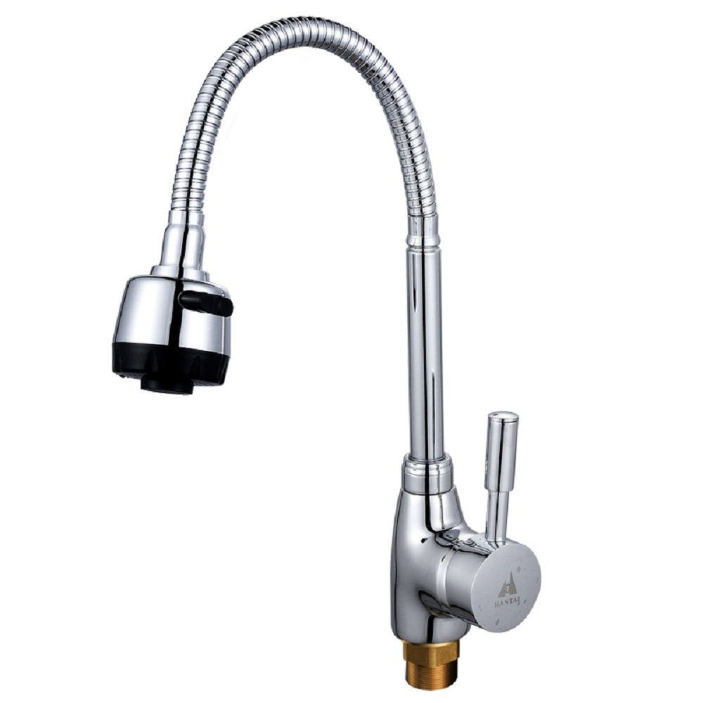 Lalaky Taps Faucet Kitchen Mixer Sink Waterfall Bathroom Mixer Basin Mixer Tap for Kitchen Bathroom and Washroom Copper Universal Hot and Cold Single Hole