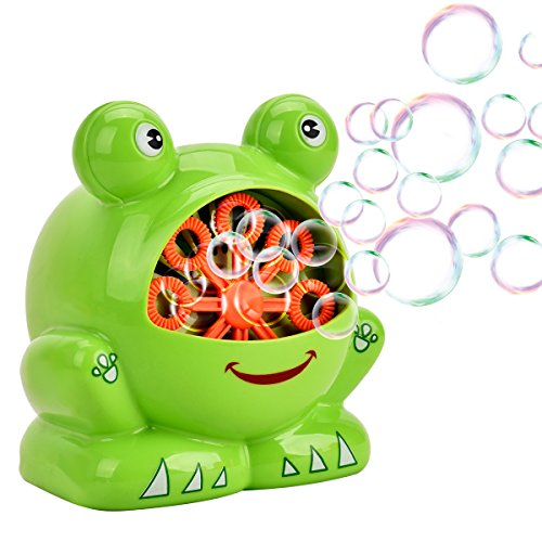 Automatic Bubble Machine - Showin Little Kids Bubble Machine - Automatic Bubble Maker Machine Durable High Output Bubble Blower,Frog Shape Easy to Use Bubble Blowing Machine