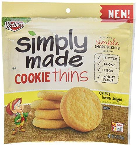 Simply Made Keebler Cookies, Crispy Lemon Delight Cookie Thins, 6 oz Resealable Bag -