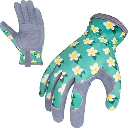 SKYDEER Womens Gardening Gloves with Deerskin Leather Suede for Yard Work, Rose Pruning and Daily Work by SKYDEER (Image #3)