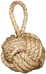 Two\'s Company Marseille  Knot Door Stopper ( 3.3 lbs ) - Jute