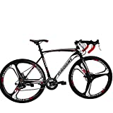Eurobike Road Bike 700C Wheels 21 Speed Disc Brake Bicycle 54cm/Medium Frame Size (3 Spoke mag...