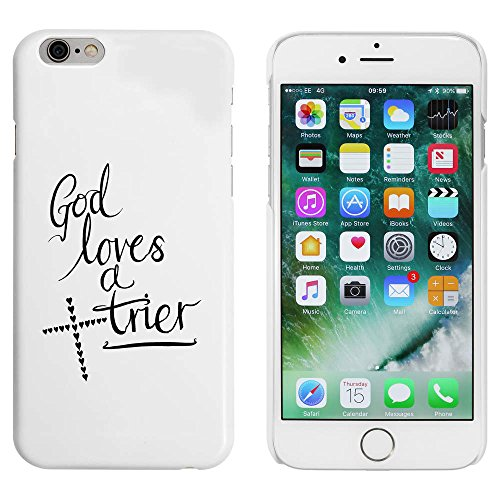 Blanc 'God Loves a Trier' étui / housse pour iPhone 6 & 6s (MC00053026)