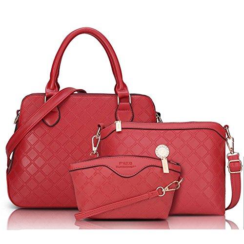 Eysee - Bolso de tela de poliuretano para mujer Red