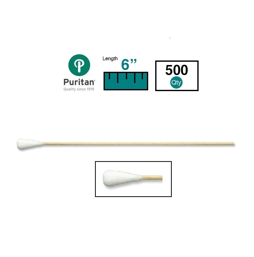 Puritan Medical 6'' Extra Large Cotton Swab w/Wooden Handle - 806-WCL (Box of 500)