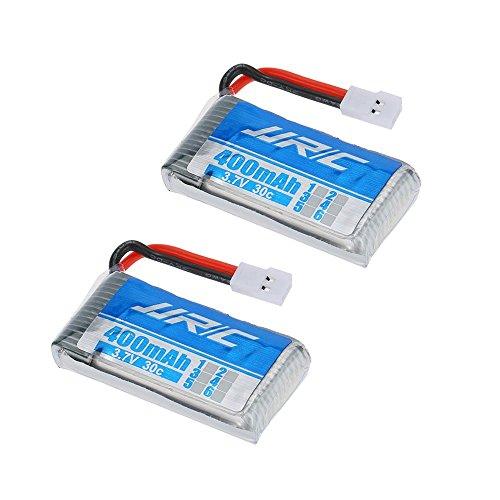 YUNIQUE FRANCE ® 2 PIECES 400mAh 3.7V 20C Batterie de JJRC H31 RC Quadcopter Pièces