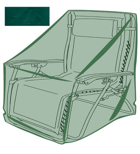 Outdoor Furniture All-Weather Cover for Zero Gravity Chair 34.5 L x 28 W x 43 H Green