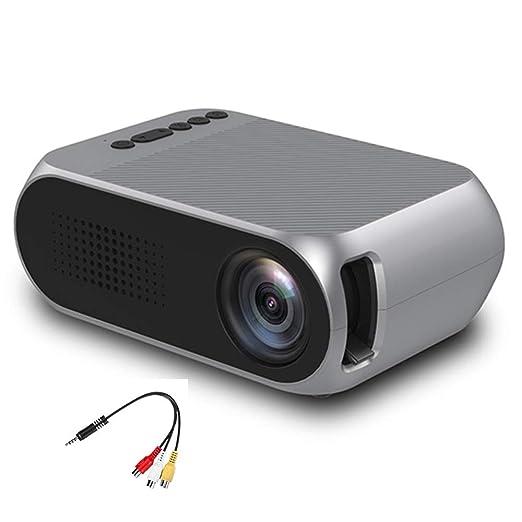 H.L Proyector USB casa LED Mini portátil Micro proyector 1080P HD ...