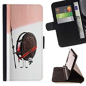 Jordan Colourful Shop - cookie guardian warrior soldier sweets sugar For Samsung ALPHA G850 - < Leather Case Absorci????n cubierta de la caja de alto impacto > -