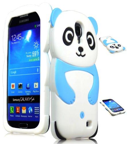 Bastex Silicone Case for Samsung Galaxy S4 I9500 SIV S IV - Cute Sky Blue & White Panda Skin