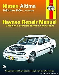 nissan altima 1993 thru 2006 haynes repair manual john h haynes rh amazon com 2007 nissan altima repair manual pdf 2007 nissan altima repair manual free