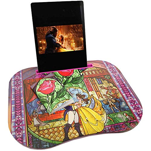 Disney Princess Belle Beauty and The Beast Lap Desk for Girls with iPad Holder
