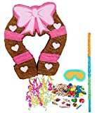 BirthdayExpress Pink Cowgirl Party Supplies - Pinata Kit