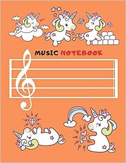 Amazon com: Music Notebook: Unicorn Blank Sheet Music
