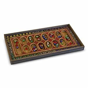 Classic Wooden Mancala Game Board