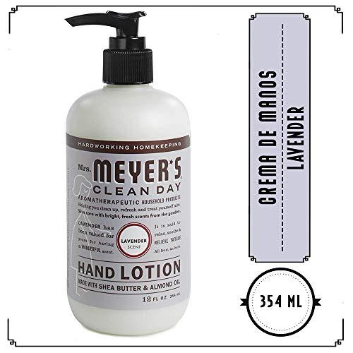 Mrs. Meyers Mrs Meyer's Clean Day Crema De Manos, Lavender, 354ml, Pack of 1
