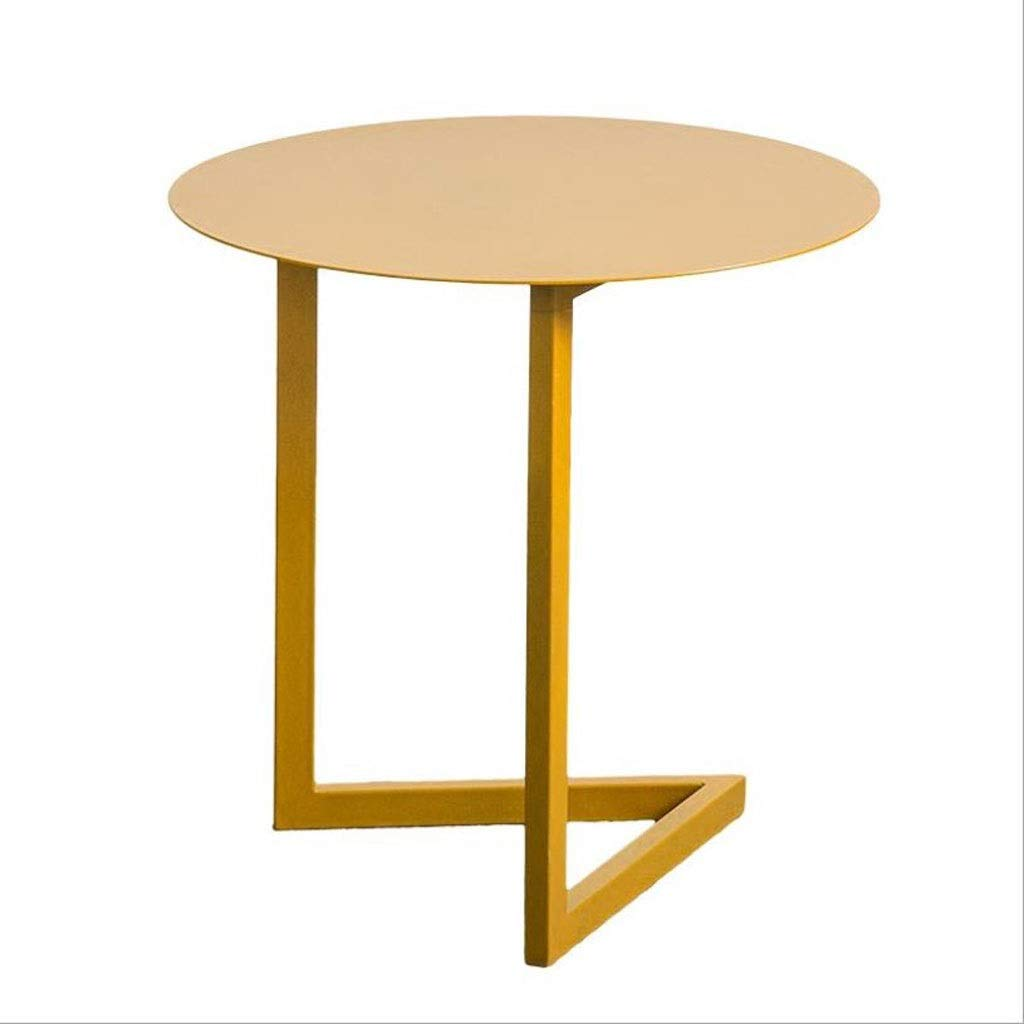 T-Day End Tables Bedside Table Side Table Modern gold Small Line Side Table Metal Coffee End Table - Living Room Sofa Side,50  50  50 cm