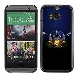 Be Good Phone Accessory // Dura Cáscara cubierta Protectora Caso Carcasa Funda de Protección para HTC One M8 // Castle
