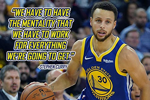 Stephen Curry Poster Quote Cool Golden State Warriors Steph Curry Quotes Posters Basketball Sports Décor Coaching Wall Art Growth Mindset Teacher Educational Teaching Learning Mindsets Quotes P057