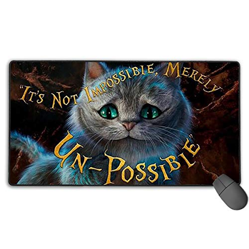 Lbbb1994 Alice in Wonderland Large Extended Gaming Mouse Pad Mat,Stitched Edges,Non-Slip Rubber Base,Wide & Long Mousepad - 29.5 X 15.7 X 0.1 Inch (Mousepad Alice In Wonderland)
