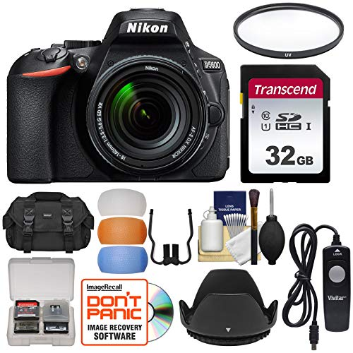 Nikon D5600 Wi-Fi Digital SLR Camera & 18-140mm VR DX AF-S Lens with 32GB Card + Case + Filter + Hood + Remote + Flash Diffusers + Kit