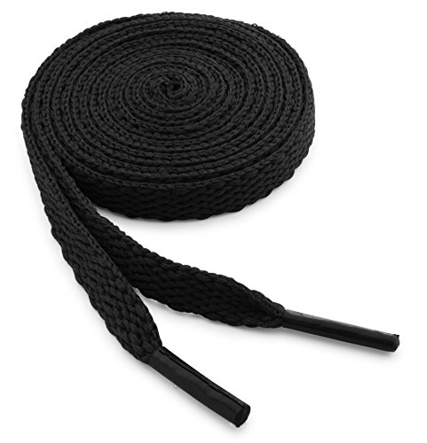 OrthoStep Flat Athletic Black 40 inch Shoelaces 2 Pair Pack
