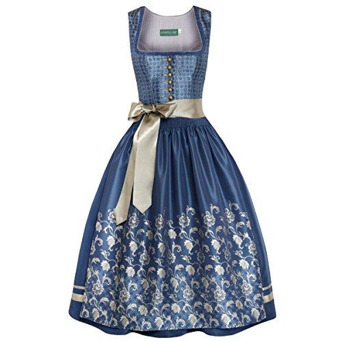 Langes Dirndl Lucia in Blau von Country Line, Größe:40;Farbe:Blau
