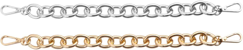 Bronze Healifty 4 St/ücke Eisen Handtasche Kette Strap Einkaufstasche Metall Geldb/örse Dekorative Ketten Dual End Schnalle Riemen Ersatz-30 cm
