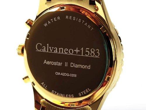 Calvaneo 1583 Aerostar II Diamond Gold Black Massiver verg